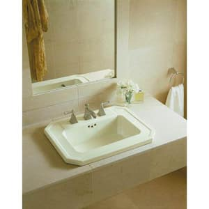 Kohler Memoirs® 3-Hole Widespread Bathroom Sink Faucet with Double Metal Lever Handle K454-4S
