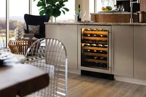 Sub Zero 24 in. Wine Cooler With Left-Hand Glass Door Overlay S424GOLH