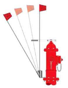 Pollardwater 53 in. Hydrant Marking Flag PP68801 at Pollardwater