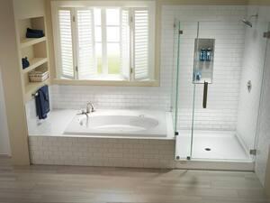 Jacuzzi Cayman® 48 x 34 in. Shower Base in White JCAY4834SCXXXXW