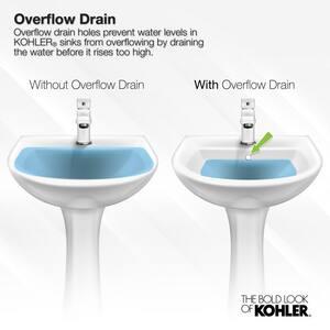 Kohler Kathryn® No-Hole Undermount Bathroom Sink with Glazed Underside K2297-G