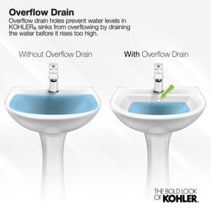 Kohler Kathryn® No-Hole Undermount Rectangular Bathroom Sink K2297