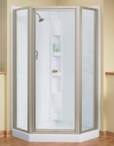 Sterling Plumbing Group Intrigue™ 64 x 39 in. Neo-Angle Shower Door in Nickel SSP2275A38N