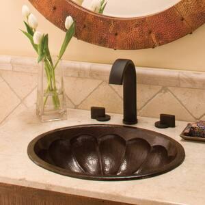 Native Trails Kitchen & Bath Calabash 16 x 19 in. Drop-In Undermount Lavatory Sink in Antique Copper NCPS267