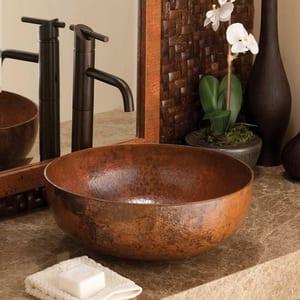 Native Trails Kitchen & Bath Maestro Round Vessel 16 in. Vessel Round Copper Lavatory Sink NCPS363