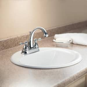 Moen Kingsley™ High Arc Centerset Lavatory Faucet with Double Lever Handle M6121