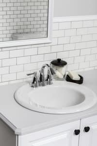 Gerber Plumbing Maxwell® Drop-In Oval Lavatory Sink with 4 in. Centerset Faucet G12834CH