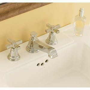 Kohler Pinstripe® 3-Hole Widespread Lavatory Faucet with Double Cross Handle K13132-3B