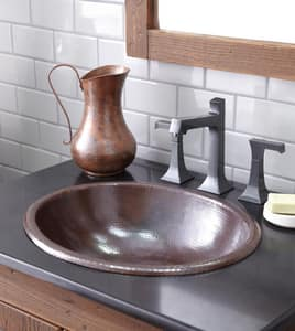 Native Trails Kitchen & Bath Rolled Classic 15-1/2 x 18-1/2 in. Copper Lavatory Sink in Antique Copper NCPS240