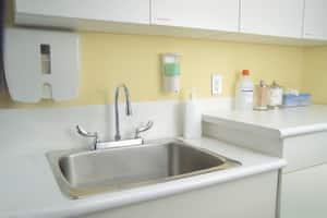 Delta Faucet Cer-Teck® Double Lever Handle Lavatory Faucet in Polished Chrome D26C3944