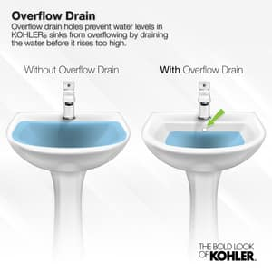 Kohler Memoirs® 3-Hole Rectangular Drop-In Lavatory Sink with 4 in. Centerset K2337-4