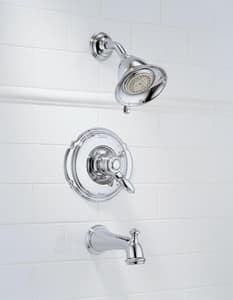 Delta Faucet Victorian® 2.5 gpm Tub and Shower Trim Kit with Single Lever Handle and Diverter Spout (Trim Only) DT17455