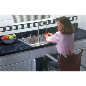 Elkay Gourmet Celebrity® 4-Hole 2-Bowl Topmount Kitchen Sink in Brushed Satin EGECR33214