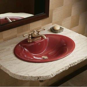 Kohler Revival® 2-Hole Deckmount Centerset Lavatory Faucet with Double Lever Handle K16100-4