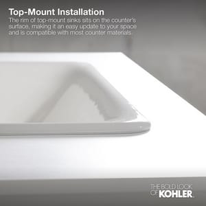 Kohler Cimarron® 3-Hole Drop-In Bathroom Sink K2351-4