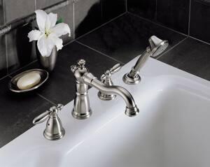 Delta Faucet Victorian® 2 gpm 4-Hole Roman Tub Trim (Trim Only) DT4755LHP