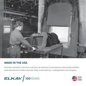 Elkay Gourmet® 17 x 22 in. Single Bowl Top Mount Sink ELR1722