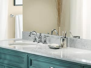 Moen Waterhill™ 1.5 gpm Double Lever Handle Widespread Lavatory Faucet MTS418