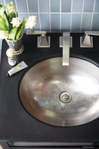 Native Trails Kitchen & Bath Oval Lavatory Sink  Brushed Nickel NCPS568