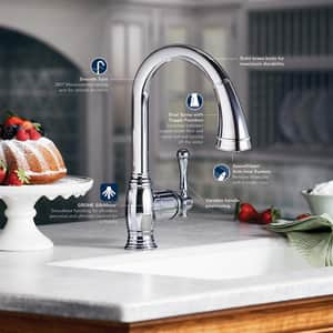 Grohe Bridgeford™ 5-13/16 in. Basin Mixer with Double Lever Handle G20134