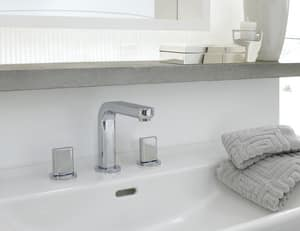 Hansgrohe Metris S Widespread Lavatory Faucet with Double Lever Handle H31063