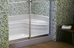 Jacuzzi Bonaire® 48 x 34 in. Rectangle Shower Base with Right Drain JEU259