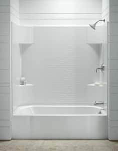 Sterling Accord® Right-Hand Bath Tub with Back in White S711411260