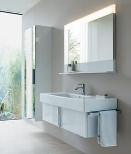 Duravit USA Vero® 49-1/4 in. Single Hole Vitreous China Lavatory Sink White with Basin D03291200001