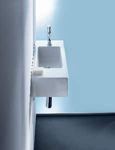 Duravit USA Vero® 1-Hole Handrinse Left Hand Basin in White Alpin D07035000091