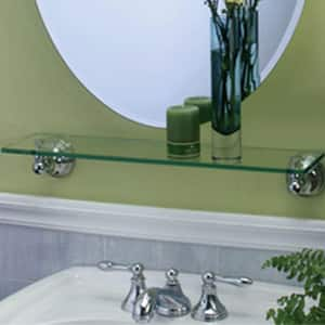 Gatco Glass Shelf in Polished Chrome G4356