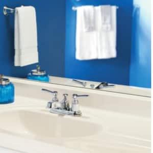 Moen Rothbury™ Double Lever Handle Low Arc Lavatory Faucet MS6201