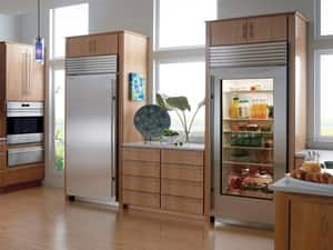 Sub Zero 23.5 CF 36 in. Stainless Steel Tube-Handle Built-In All-Refrigerator With Left-Hand Door Swing SBI36RGSTHLH