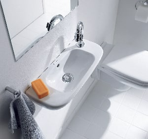 Duravit USA D-Code Single Hole D-Code Hand Rinse Basin in White D07065000082