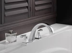 Delta Faucet Dryden™ 18 gpm 3-Hole Roman Tub Trim with Double Lever Handle (Trim Only) DT2751