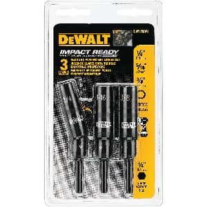 DEWALT 1/4 - 3/8 in. 3-Piece Magnetic Impact Ready Pivot Nutdriver DDWPVTDRV3