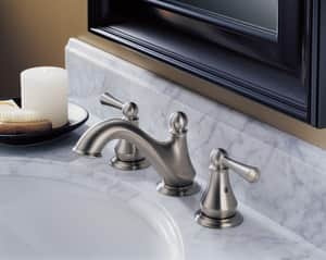 Delta Faucet Lewiston® Widespread Lavatory Faucet with Lever Handle in Venetian Bronze D35902LFRB