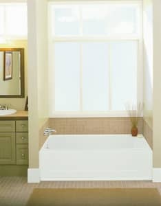 Sterling Plumbing Group All Pro® 60 x 30 in. Right-Hand Bath Tub with Multiple Pack in White S610415200