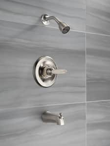 Delta Faucet Foundations® Tub and Shower Trim with Scald-Guard (Trim Only) DBT13410