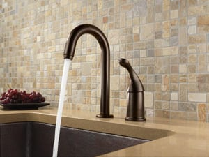Delta Faucet Transitional 1.5 gpm Single Lever Handle Bar or Prep Faucet D1903DST