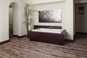Jacuzzi Sia® 66 x 36 in. 13-Jet Acrylic Rectangle Drop-In or Undermount Spa Combination Bathtub with Center Drain and J5 LCD Control JSIA6636CCR5CW