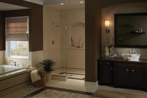 Pfister Marielle™ 3-Hole Roman Tub with Double Lever Handle and 11-3/16 in. Spout Reach PRT65MX