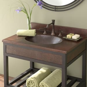 Native Trails Kitchen & Bath Sedona™ 31 x 22 in. Vanity Top Lavatory Sink in Antique Copper NVNT302