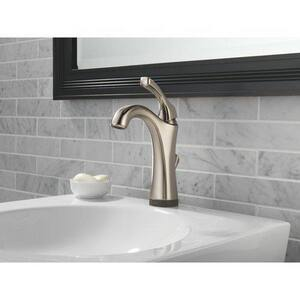 Delta Faucet Addison™ 3-Hole Bathroom Faucet with Single Lever Handle, Pop-Up Drain Assembly and 6-1/4 in. Spout Height D592TDST