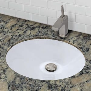 DECOLAV® Classically Redefined™ 1-Bowl Oval Undermount Mount Lavatory Sink D1412C