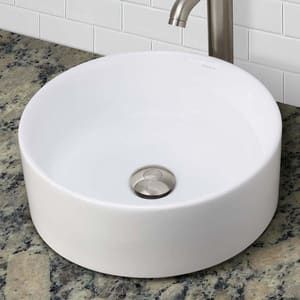 DECOLAV® Classically Redefined™ 15-1/2 in. Round Lavatory White D1458CWH