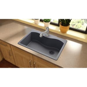 Elkay Harmony™ 5-Hole 1-Bowl Topmount Kitchen Sink with Rear Right Drain EELGS3322R0