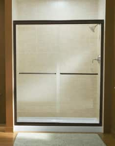 Sterling Plumbing Group Finesse® Frameless Sliding Shower Door with Frosted Clear Glass S547548G03