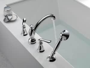 Delta Faucet Linden™ Double Lever Handle Roman Tub with Hand Shower Trim (Trim Only) DT4794