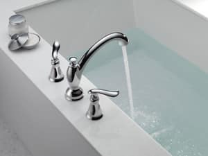 Delta Faucet Linden™ 3-Hole Roman Tub Faucet Double Lever Handle (Trim Only) DT2794