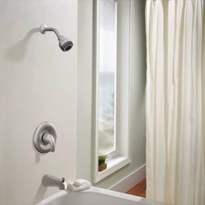 Moen Adler™ 2 gpm Tub and Shower Trim Package with Multifunction Showerhead in Spot Resist Brushed Nickel ML82001SRN